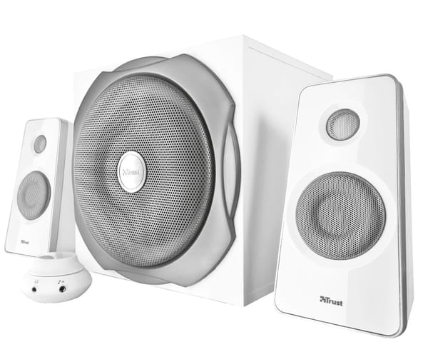 TRUST TYTAN DIGITAL 2.1 BLANCO ALTAVOCES GAMING 120W CON CONTROL DE VOLUMEN