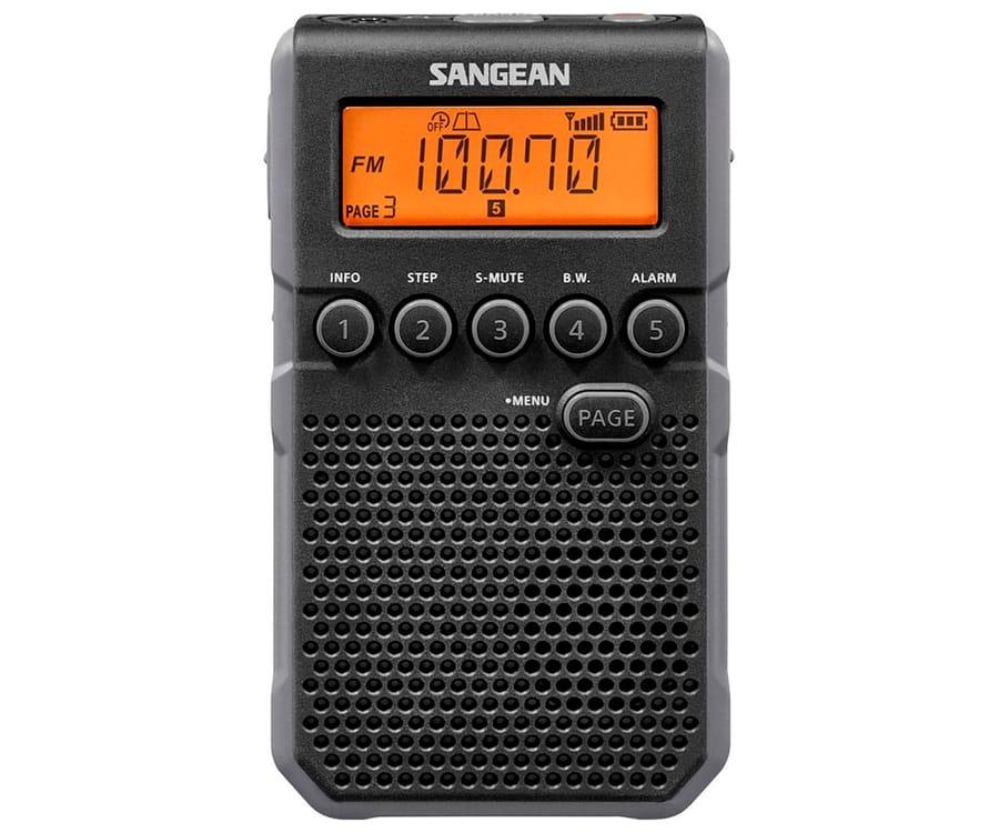 SANGEAN DT-800 NEGRO RADIO DIGITAL BOLSILLO AM FM CON RDS PANTALLA LCD BATERÍA RECARGABLE