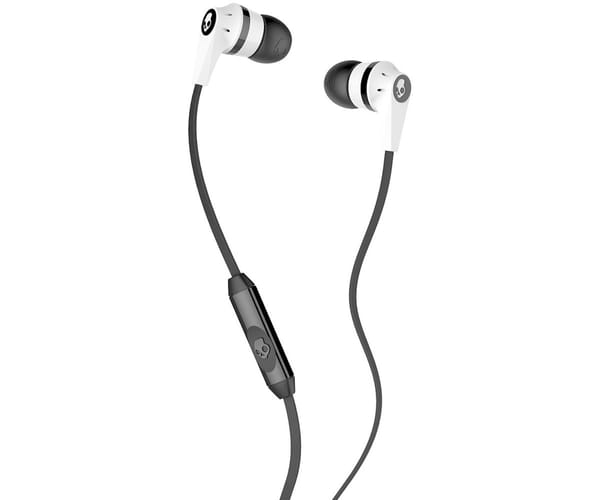 SKULLCANDY INKD 2 WHITE BLACK AURICULARES DE BOTÓN IN-EAR CON CABLE Y MICRÓFONO