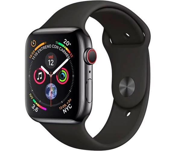 APPLE WATCH SERIES 4 NEGRO ESPACIAL CON CORREA LOOP NEGRA RELOJ 44MM SMARTWATCH 16GB WIFI BLUETOOTH GPS PANTALLA OLED