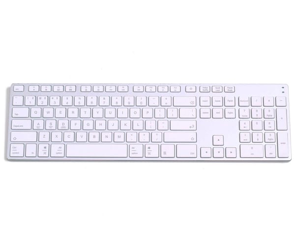 SUBBLIM ADVANCED EXTENDED PLATA TECLADO INALÁMBRICO BLUETOOTH SLIM 7mm GROSOR CON TECLADO NUMÉRICO
