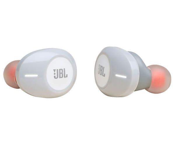 JBL TUNE 120 TWS BLANCO AURICULARES INALÁMBRICOS BLUETOOTH DE GRAN CALIDAD CON FUNDA DE CARGA
