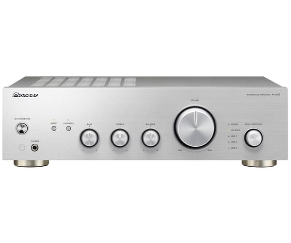PIONEER A-10AE PLATA AMPLIFICADOR INTEGRADO 2X50W CON DIRECT ENERGY DESING Y ENTRADA PHONO MM