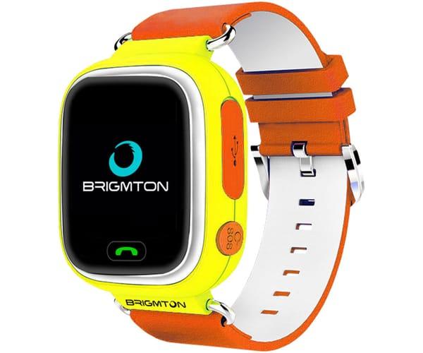 BRIGMTON BWATCH-KIDS-Y AMARILLO RELOJ LOCALIZADOR GPS PANTALLA 1.22'' COLOR TÁCTIL IP67 SIM SOS