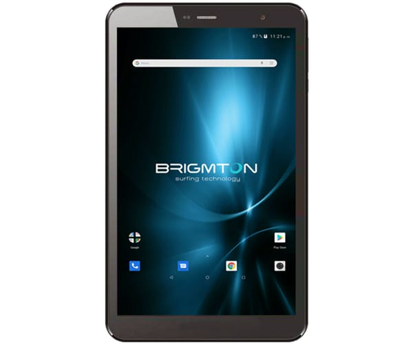 BRIGMTON BTPC-801QC-N NEGRO TABLET WIFI 8'' IPS HD/4CORE/16GB/2GB RAM/2MP/0.3MP