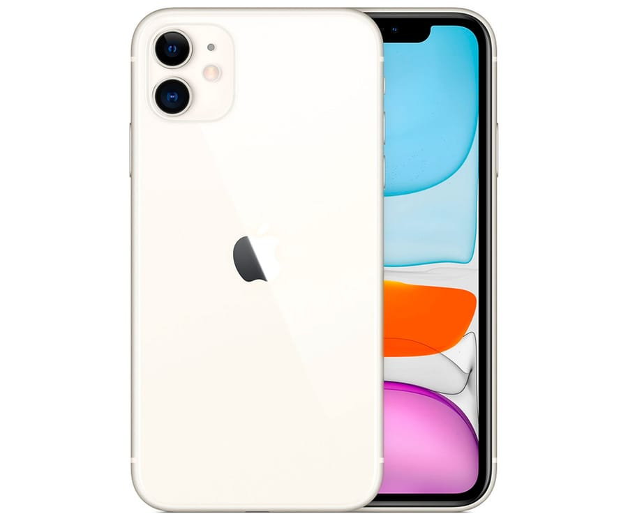 APPLE IPHONE 11 BLANCO MÓVIL DUAL SIM 4G 6.1'' SUPER RETINA XDR CPU A13/64GB/4GB RAM/12MP+12MP/12MP