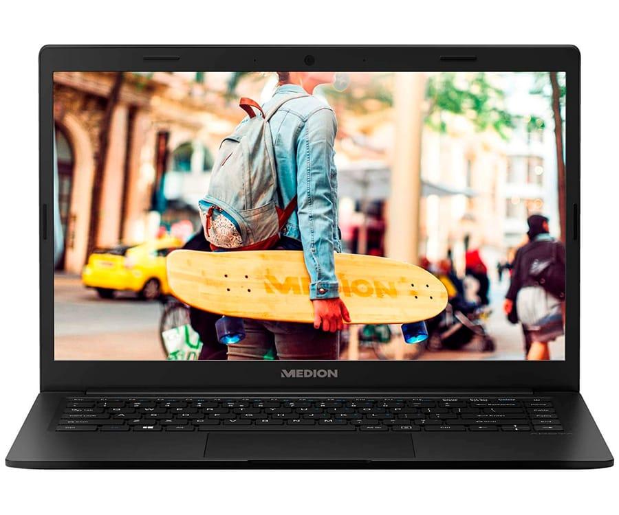 MEDION E4251 NEGRO PORTÁTIL 14'' FullHD CEL-N4000 128GB eMMC 8GB RAM W10 HOME OFFICE365