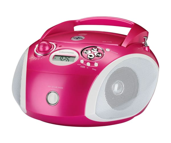 GRUNDIG RCD 1445 RADIO CD CON USB ROSA