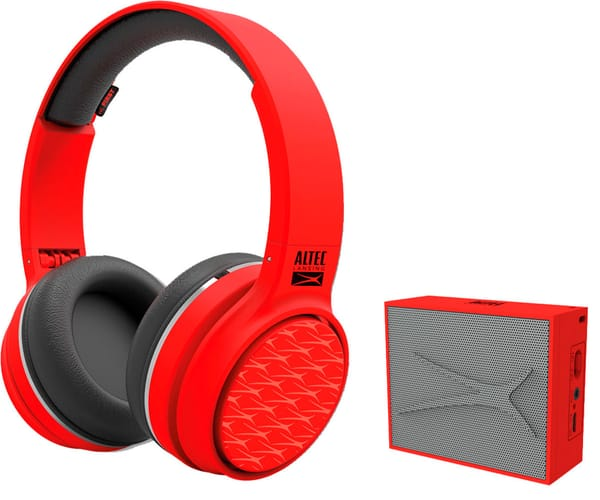 ALTEC LANSING PLAY & PARTY PACK ROJO AURICULARES RING N GO Y ALTAVOZ POCKET INALÁMBRICOS BLUETOOTH
