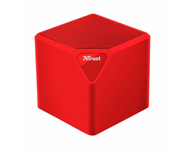 TRUST PRIMO WIRELESS BLUETOOTH SPEAKER ROJO MINI ALTAVOZ INALÁMBRICO 3W RMS BLUETOOTH USB MICROSD Y AUX
