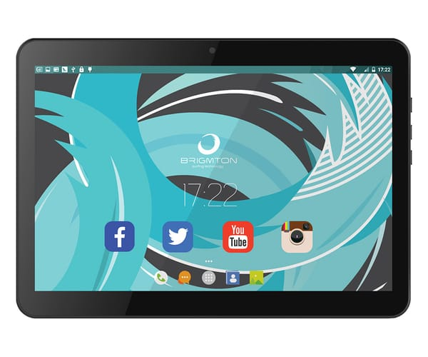 BRIGMTON BTPC-10213QC3G NEGRO TABLET 3G DUAL SIM 10'' IPS HD/4CORE/16GB/1GB RAM/2MP/0.3MP