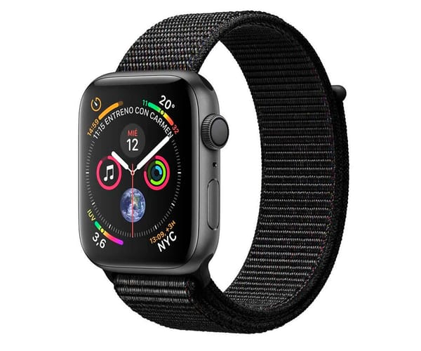 APPLE WATCH SERIES 4 GRIS ESPACIAL CON CORREA LOOP NEGRA RELOJ 44MM SMARTWATCH 16GB WIFI BLUETOOTH GPS PANTALLA OLED