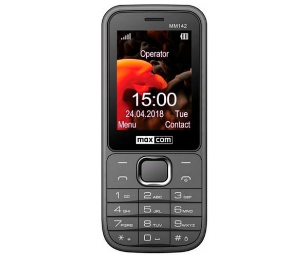 MAXCOM MM142 GRIS MÓVIL 2.4'' BLUETOOTH Y DUAL SIM